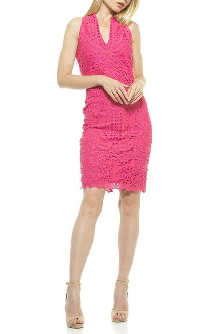 Image of Alexia Admor Karyn Crochet Lace Sheath Dress