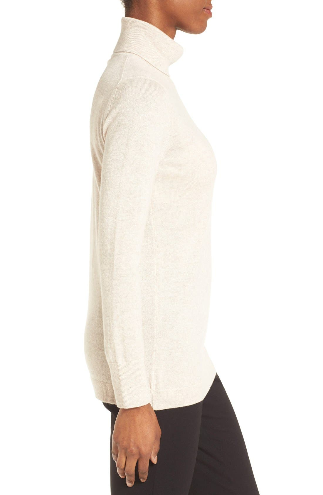 ,                             Long Cashmere Turtleneck Sweater,                             Alternate thumbnail 20, color,                             260