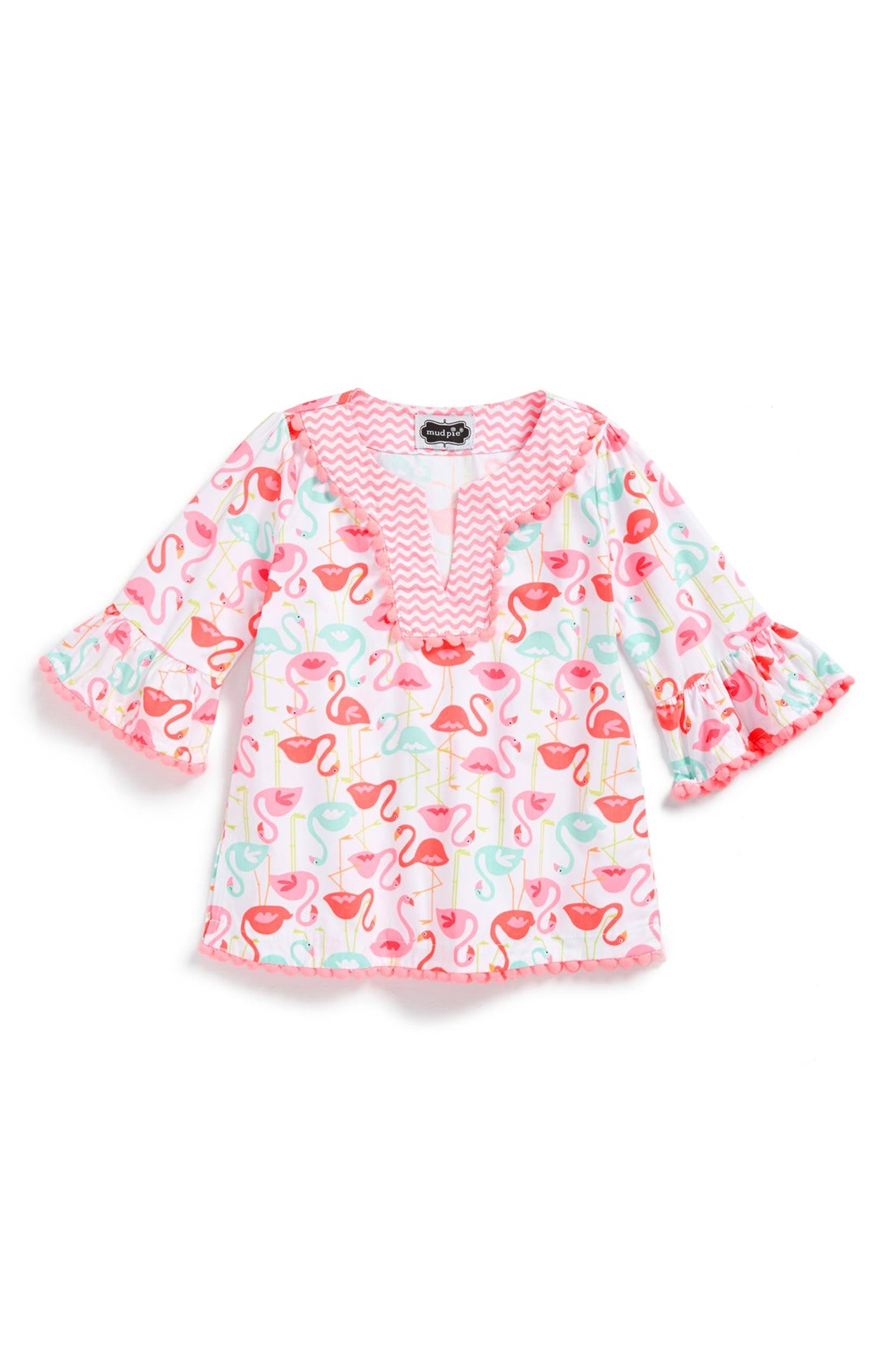 096ad16089 Mud Pie 'Flamingo' Tunic Cover-Up (Baby Girls) | Nordstrom