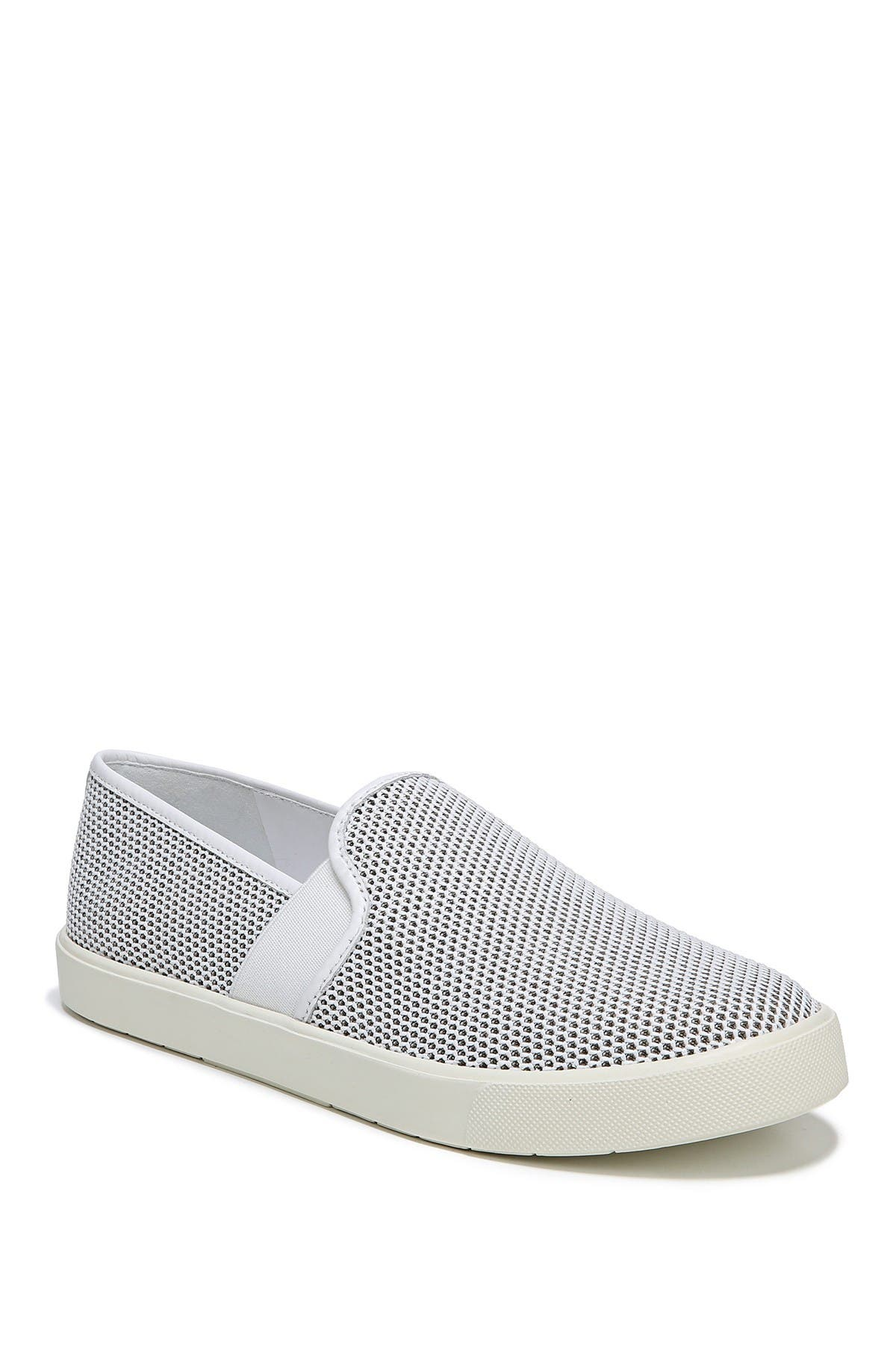 Image of Vince Preston B Perforated Leather Slip-On Sneaker
