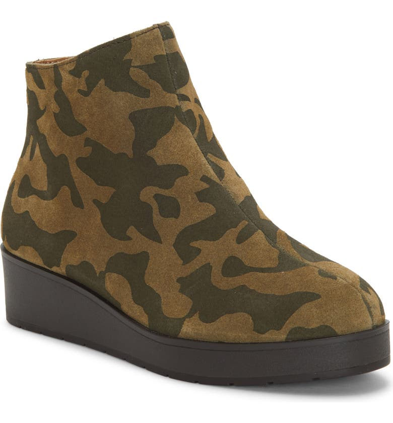 LUCKY BRAND Karmeya Bootie, Main, color, ANTIQUE GREEN LEATHER