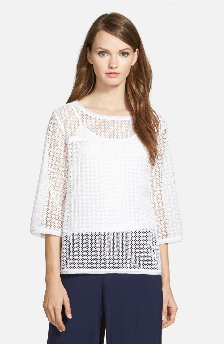 CHELSEA28 Crochet Top, Main, color, 100