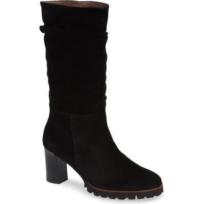 Wonders Slouchy Block Heel Boot, Black