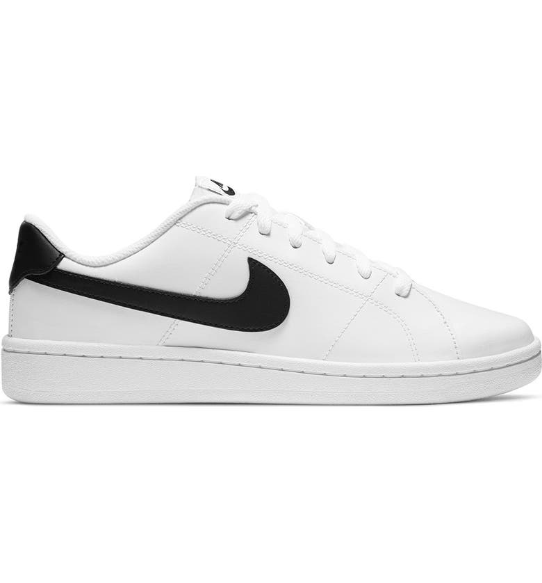 NIKE Court Royale 2 Low Sneaker, Main, color, 100 WHITE/BLACK