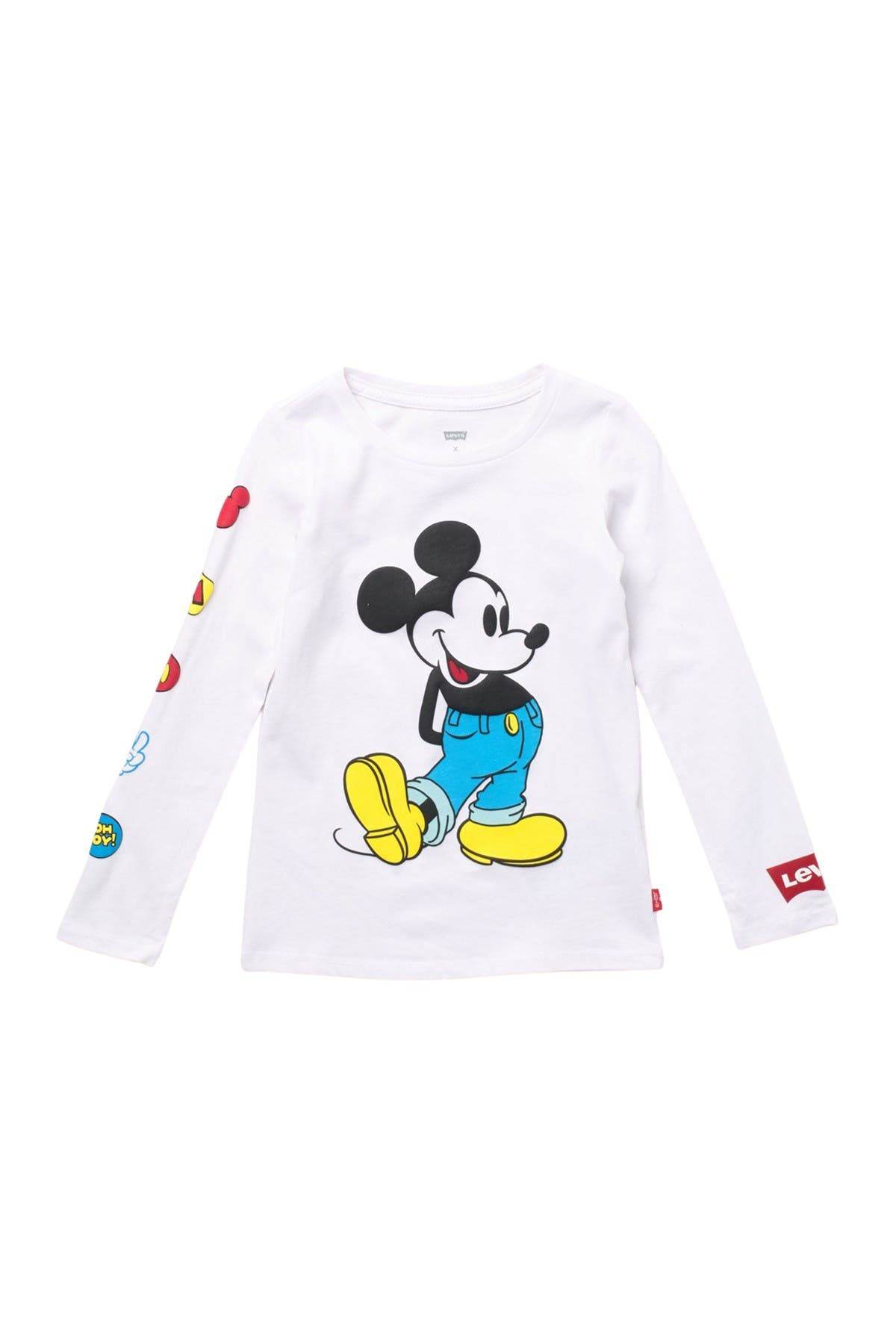 Image of Levi's Long Sleeve Mickey Mouse Graphic Tee