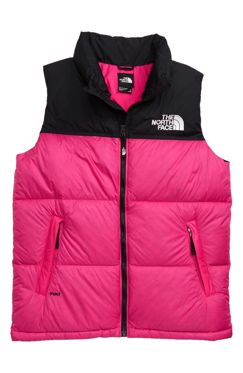 THE NORTH FACE 1996 Retro Nuptse 700-Fill-Power Down Vest, Main, color, MR. PINK