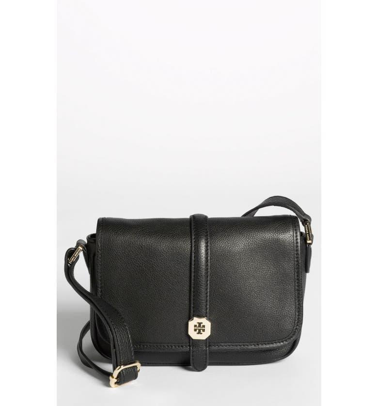 TORY BURCH 'Clay - Mini' Leather Crossbody Bag, Main, color, 001