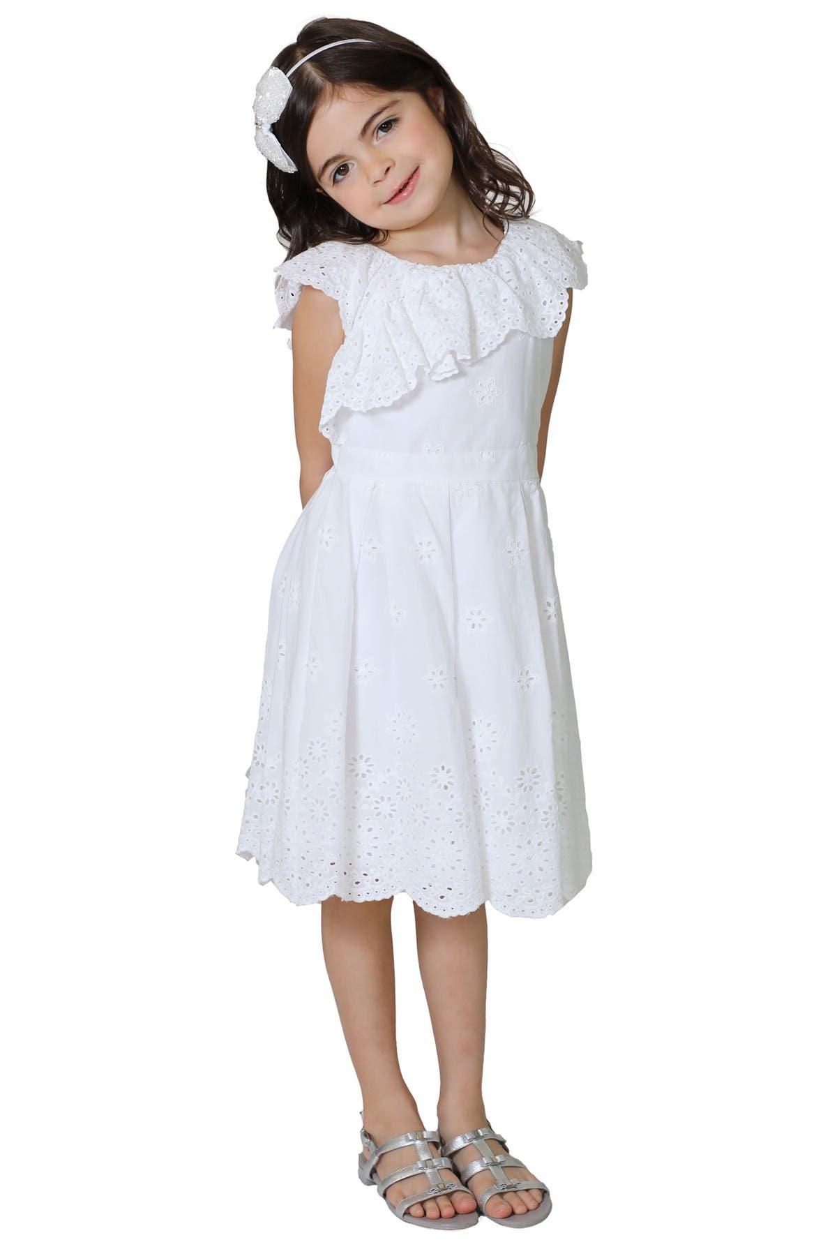 Image of Little Angels Ruffled Eyelet Dress