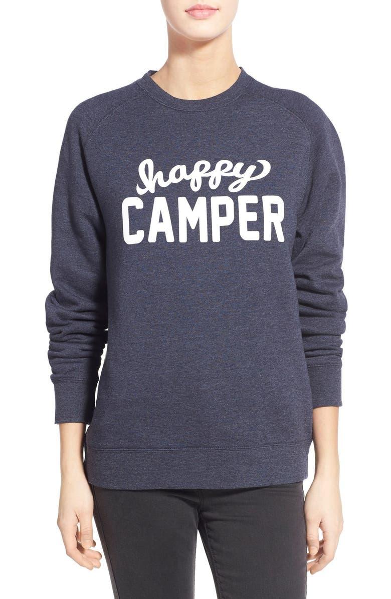 SUB_URBAN RIOT 'Happy Camper' Graphic Sweatshirt, Main, color, 410