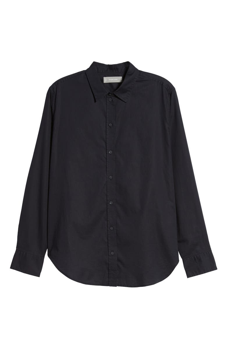 EVERLANE The Silky Cotton Relaxed Shirt, Main, color, 001