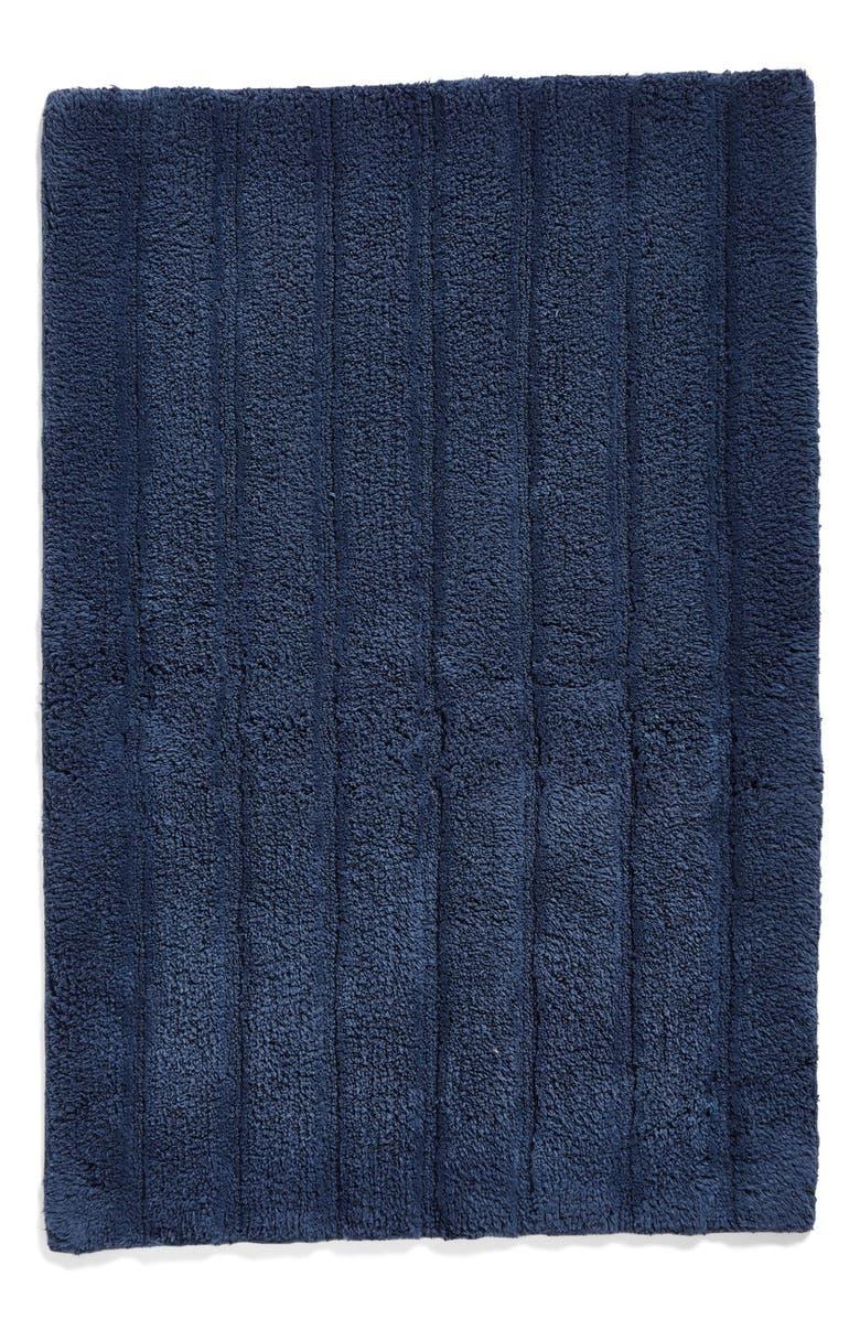 NORDSTROM AT HOME Ribbed Velour Bath Rug, Main, color, BLUE VINTAGE