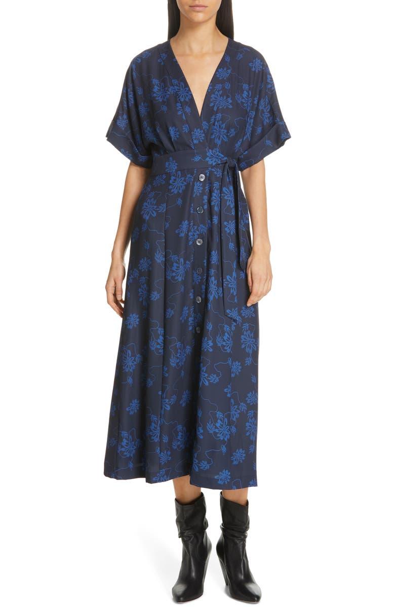 EQUIPMENT Nauman Dress, Main, color, ECLIPSE/ BLEU COTIER