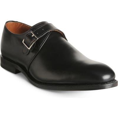 Allen Edmonds Plymouth Monk Strap Shoe - Black