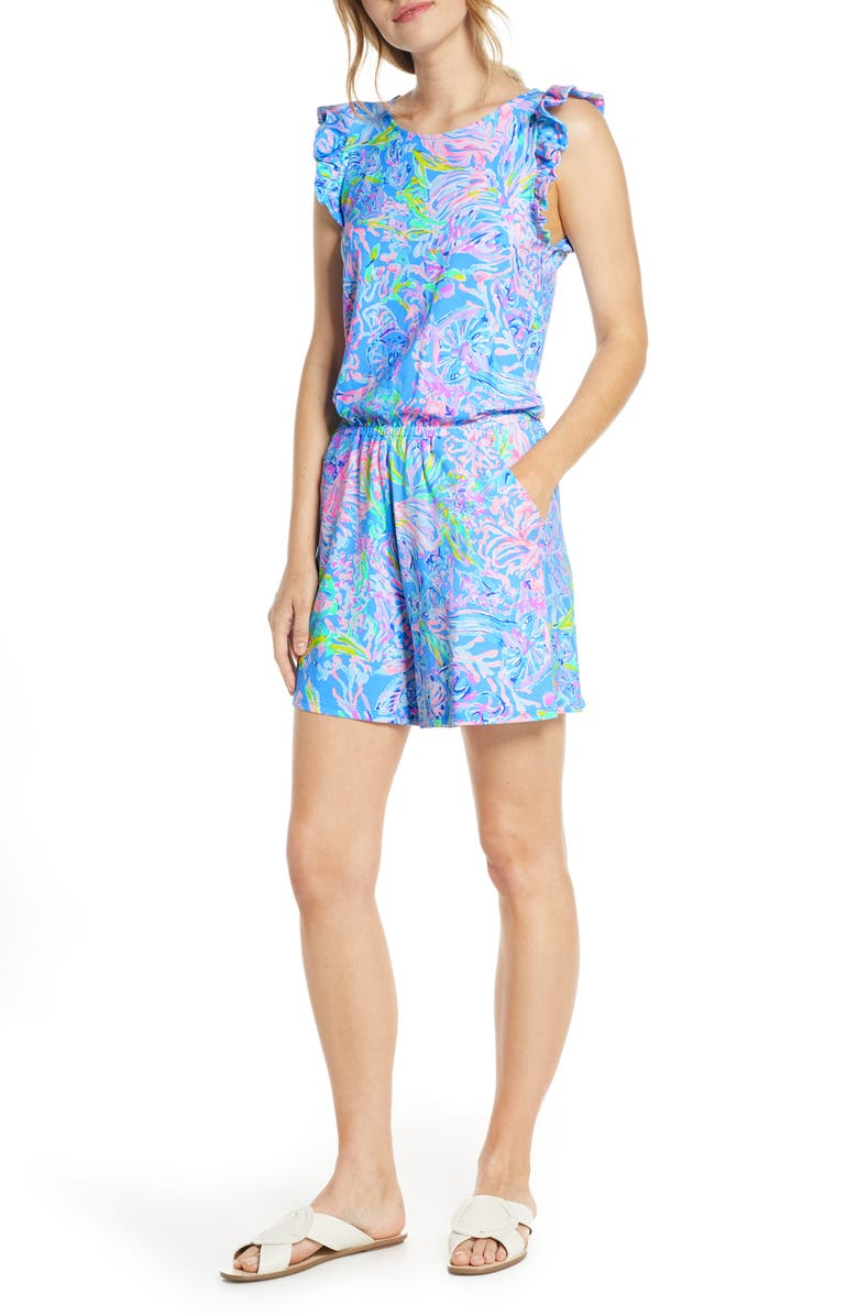 LILLY PULITZER<SUP>®</SUP> Patsi Romper, Main, color, MULTI ALL TOGETHER NOW