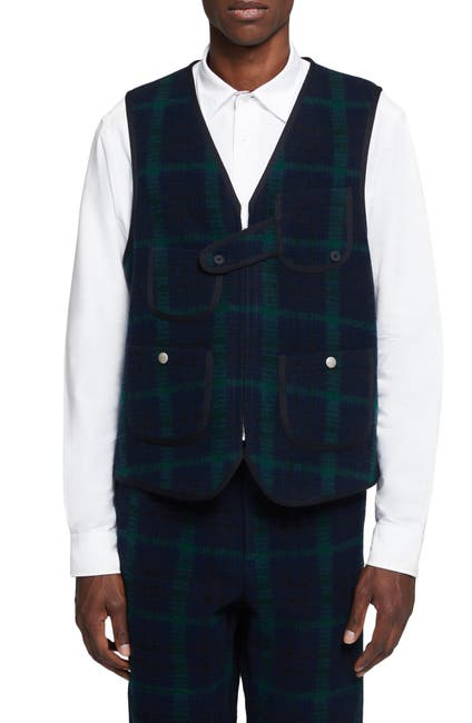 Image of Woolrich John Rich & Bros Wool Plaid Hunting Vest