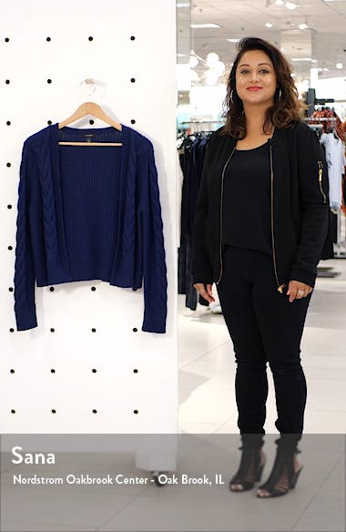 Open Front Cable Cardigan, sales video thumbnail