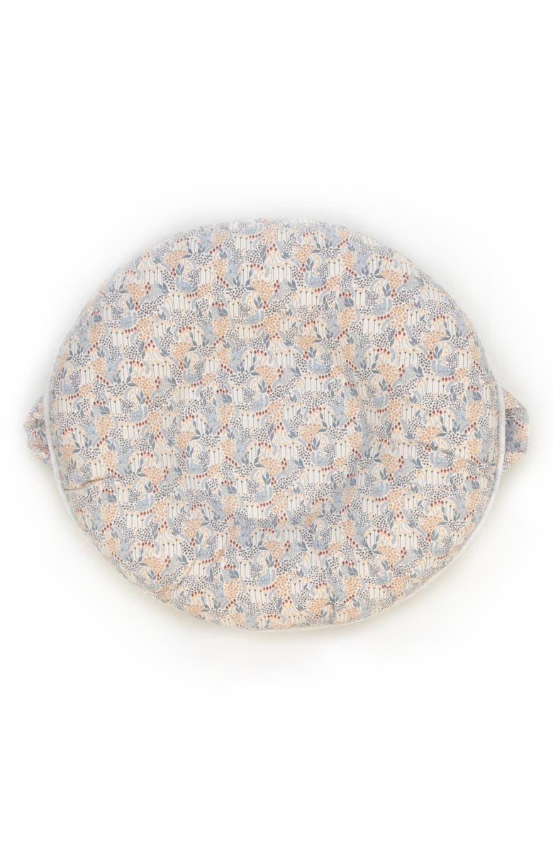 PELLO Lane Luxe Portable Floor Pillow, Main, color, LIGHT GRAY/ BEIGE