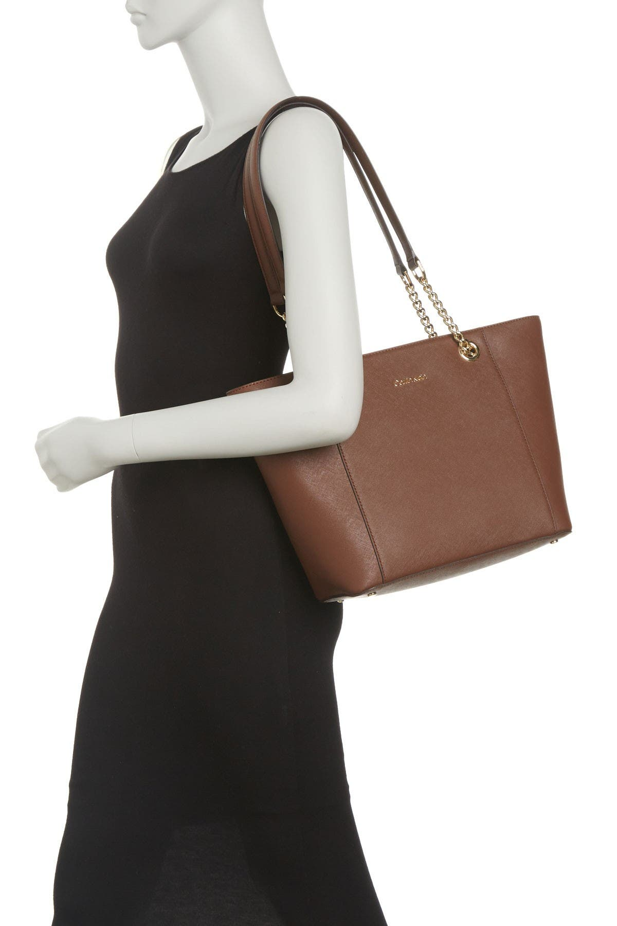 Image of Calvin Klein Hayden Key Item Saffiano Leather Tote