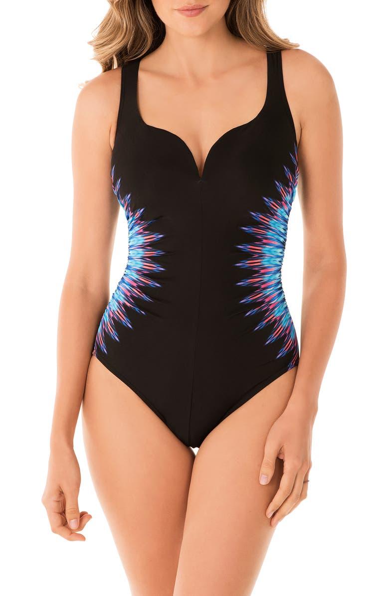 MIRACLESUIT<SUP>®</SUP> Marrakech Temptation One-Piece Swimsuit, Main, color, BLUE
