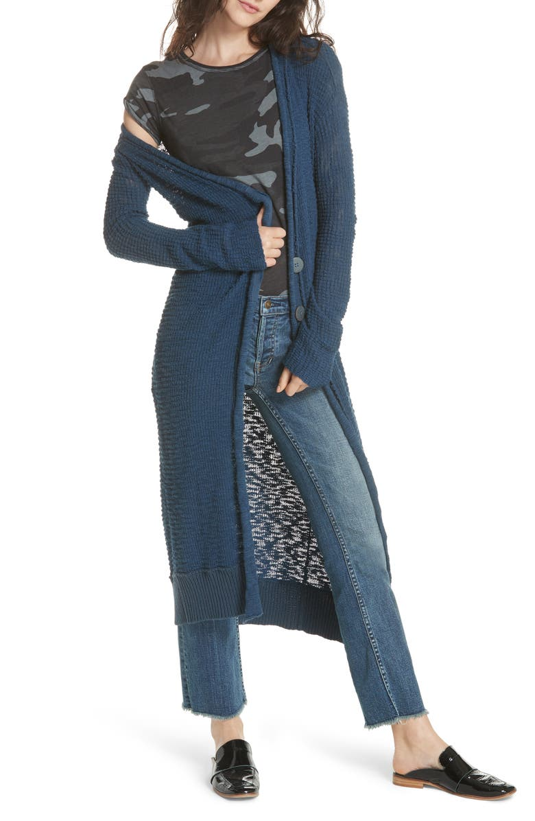 FREE PEOPLE Clearwater Long Cardigan, Main, color, 410