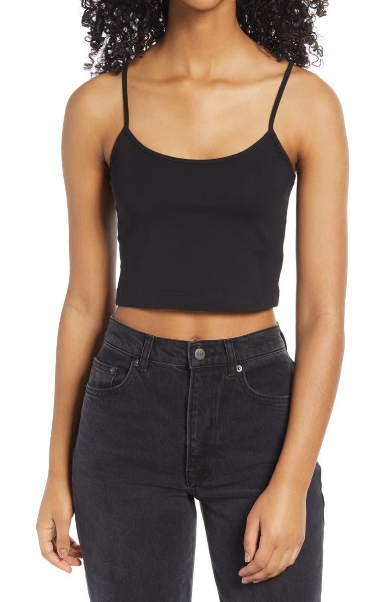 BP. Crop Camisole, Main, color, BLACK