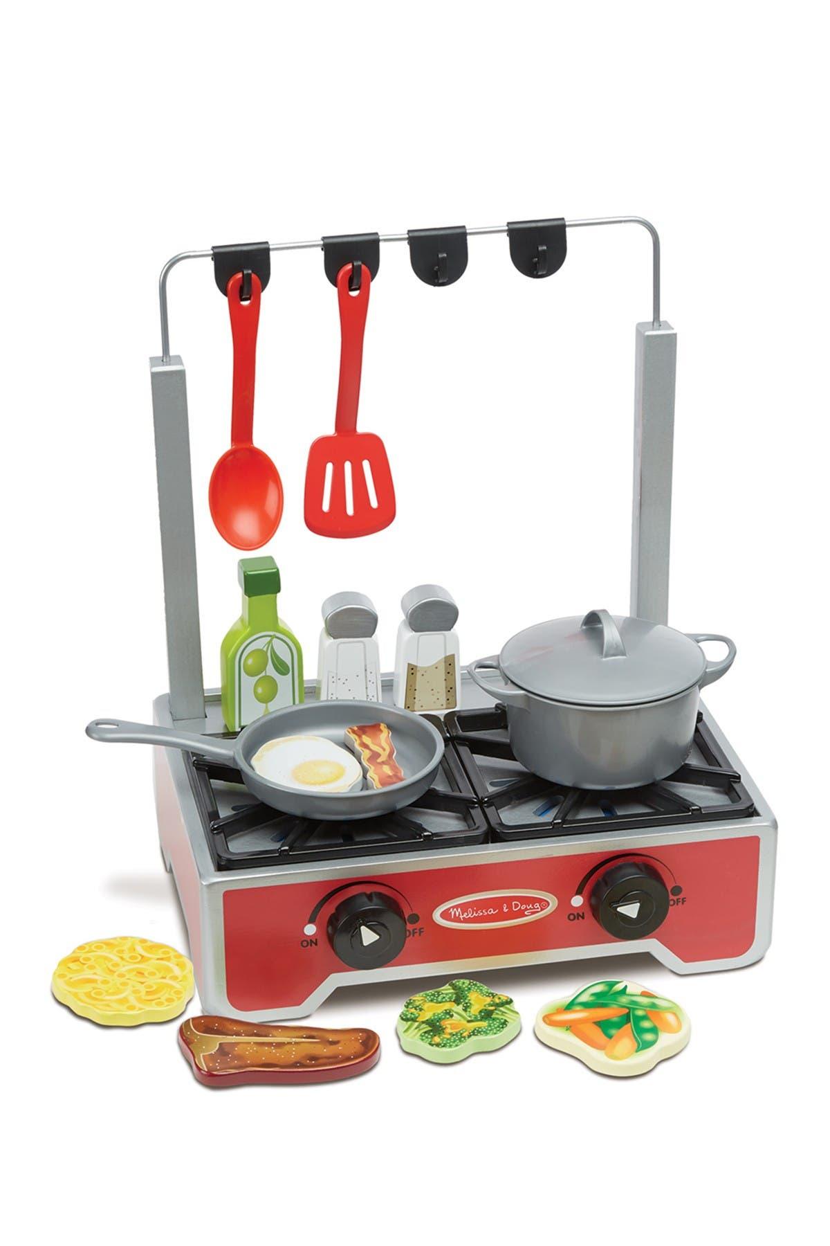 Image of Melissa & Doug Deluxe Wooden Cooktop Set