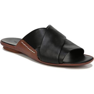 Vince Tamara Cross Strap Slide Sandal, Black