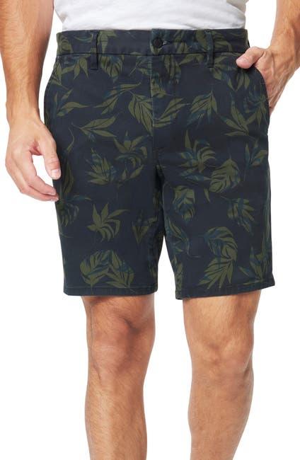 Image of Joe's Jeans Palm Print Brixton Trouser Shorts