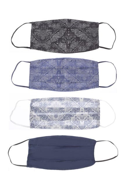 4-Pack Boho Me Bandana Assorted Adult Face Mask