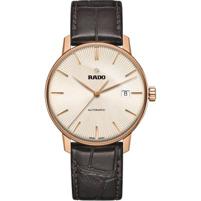 Rado Coupole Classic Automatic Leather Strap Watch,