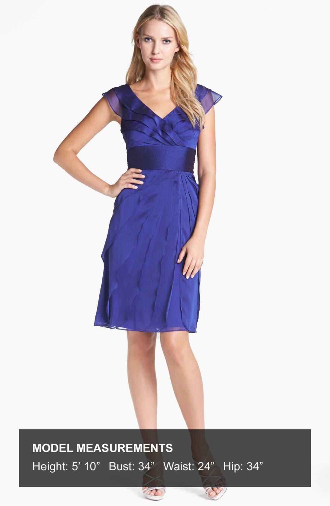 ,                             Tiered Chiffon Dress,                             Alternate thumbnail 34, color,                             450
