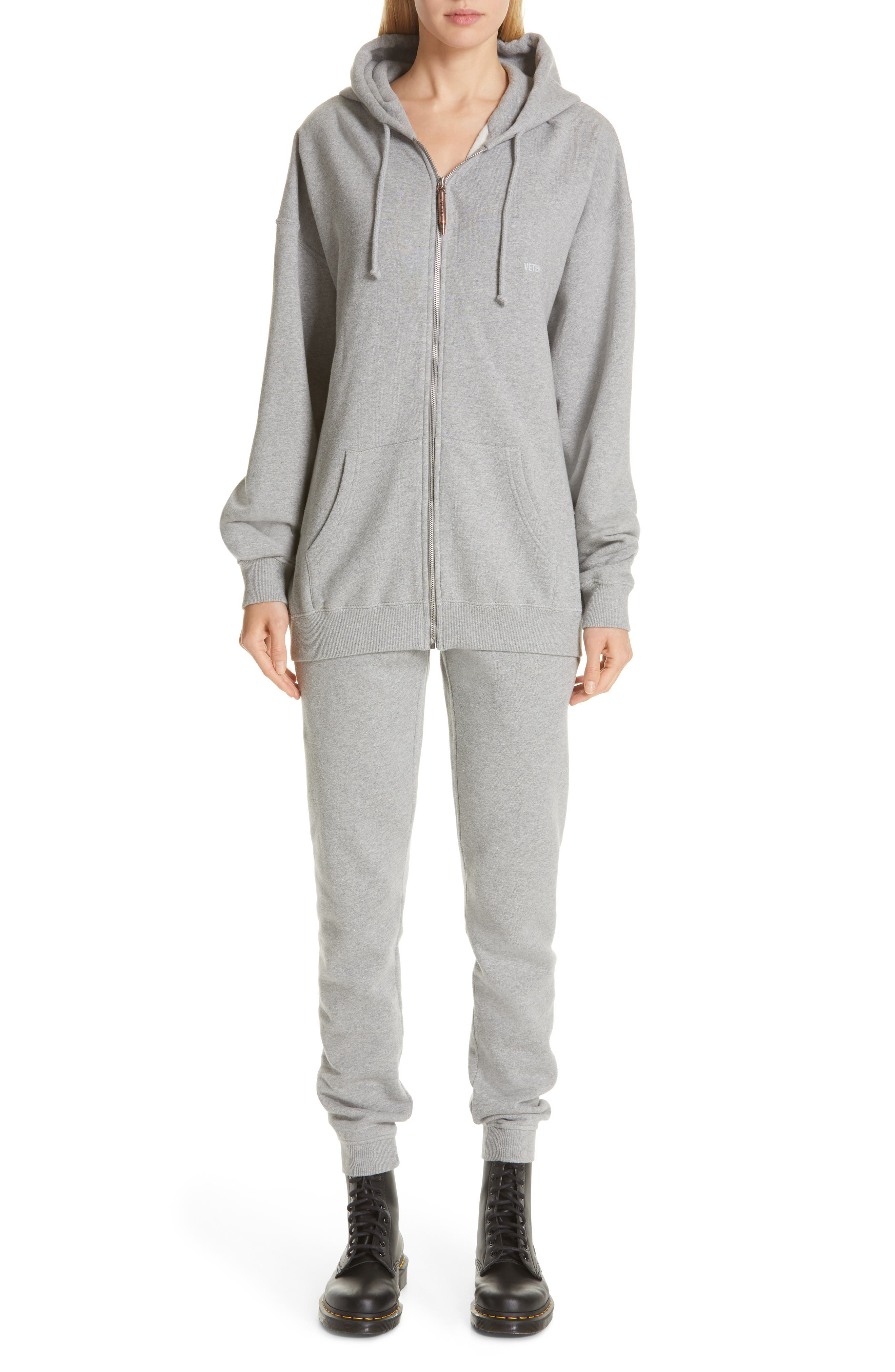 ,                             Elbow Cutout Hoodie,                             Alternate thumbnail 8, color,                             GREY