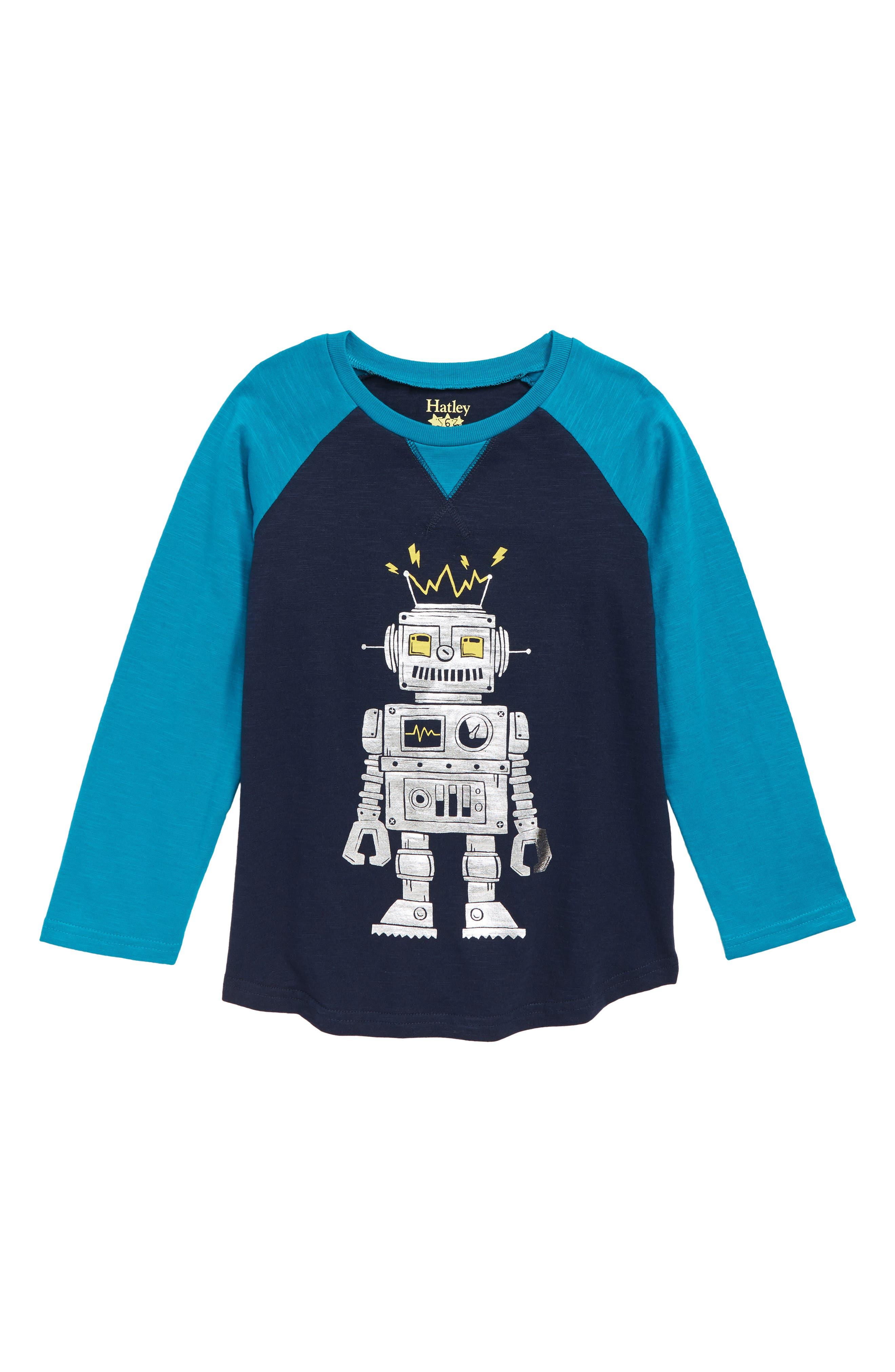 ZUGFGF-S3 American Barcode Flag Boy Girl Newborn Short Sleeve Tee Shirt 6-24 Month Cotton Tops