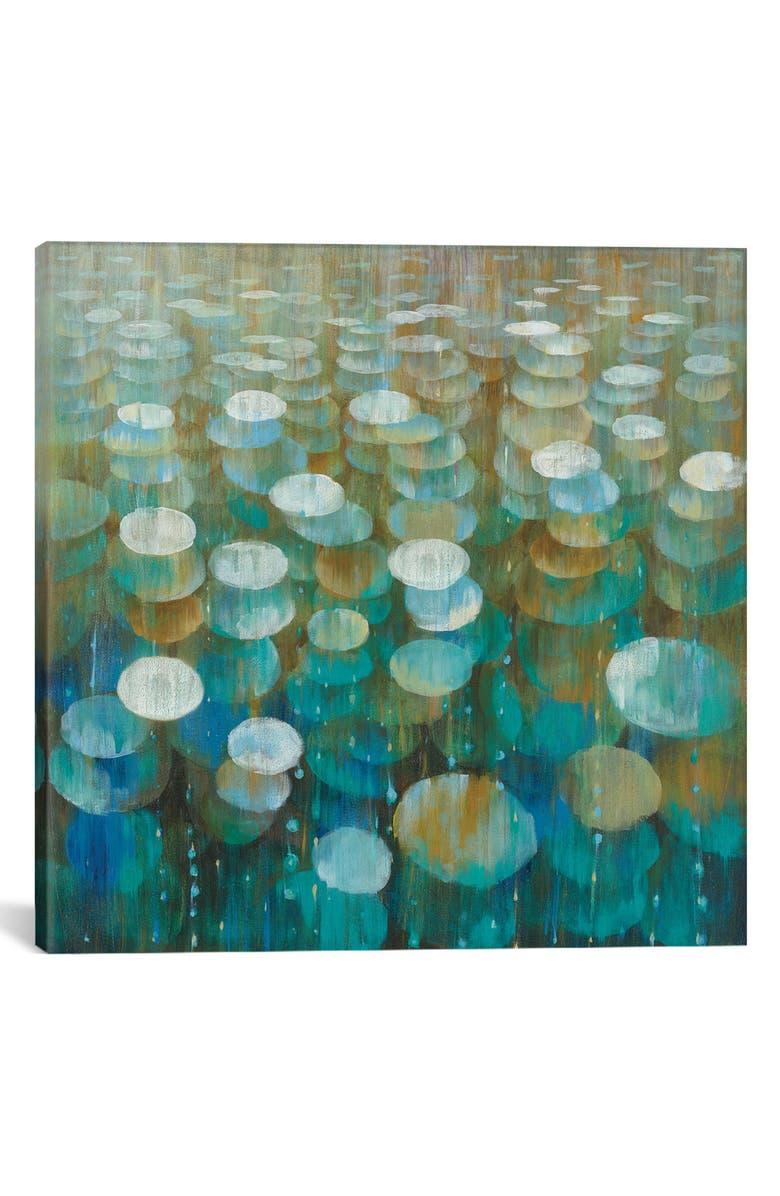 ICANVAS Rain Drops by Danhui Nai Giclée Print Canvas Art, Main, color, BROWN/ BLUE/ WHITE