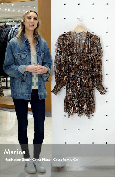 Natalia Metallic Shibori Long Sleeve Silk Blend Dress, sales video thumbnail