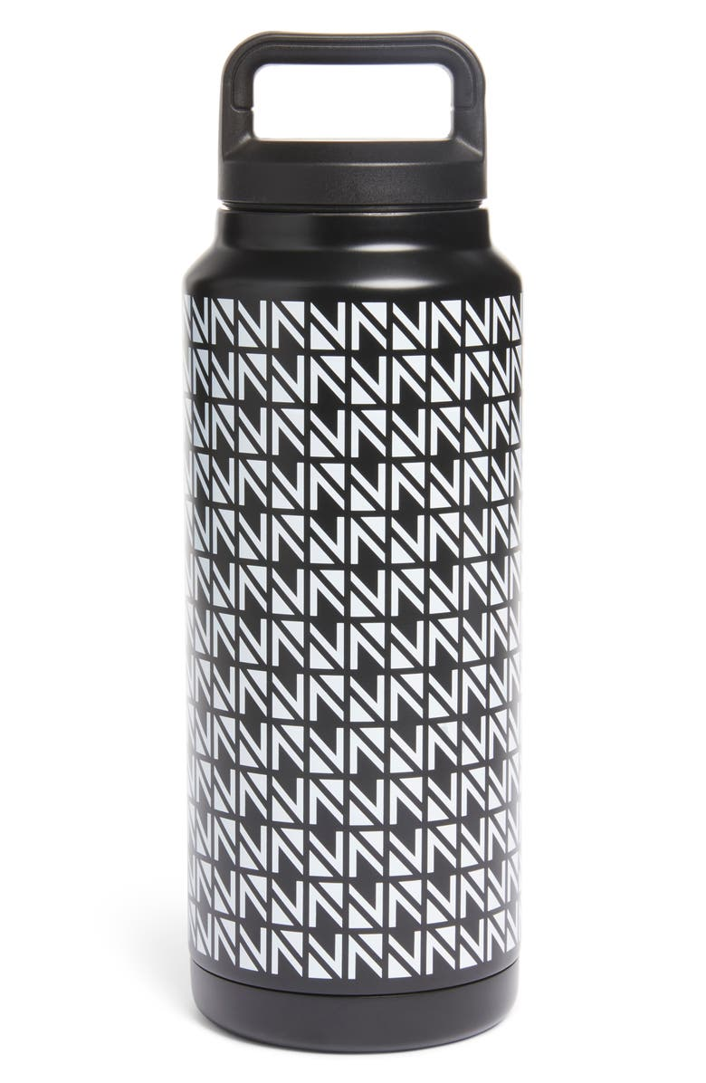 NORDSTROM 38-Ounce Reusable Water Bottle, Main, color, BLACK ALLOVER MULTI