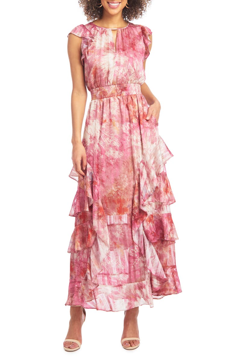 RACHEL RACHEL ROY Issa Tie-Dye Tiered Maxi Dress, Main, color, 660