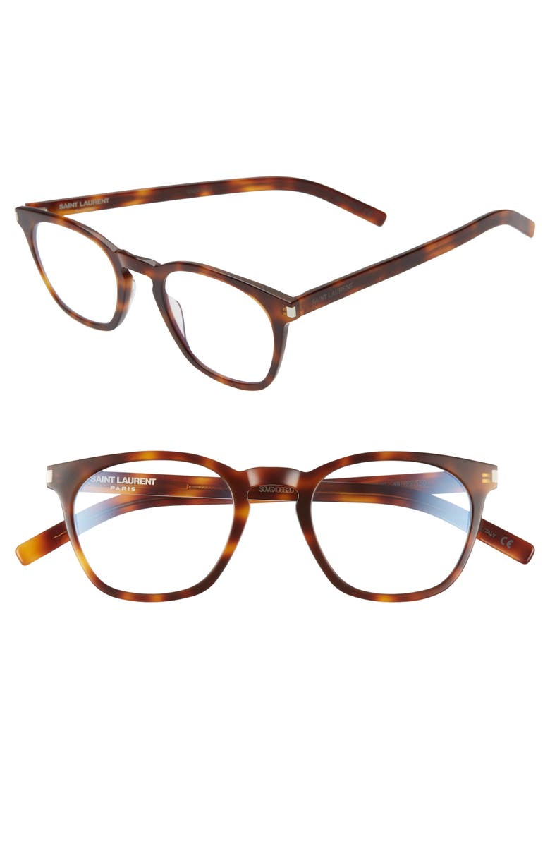 SAINT LAURENT 49mm Optical Glasses, Main, color, HAVANA