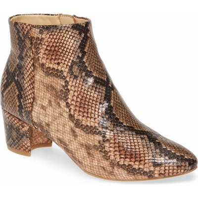 Katy Perry The Rich Snake Print Bootie, Brown