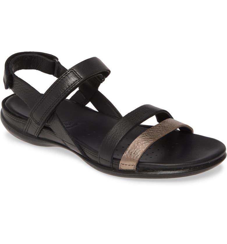 ECCO Ankle Strap Sandal, Main, color, 001