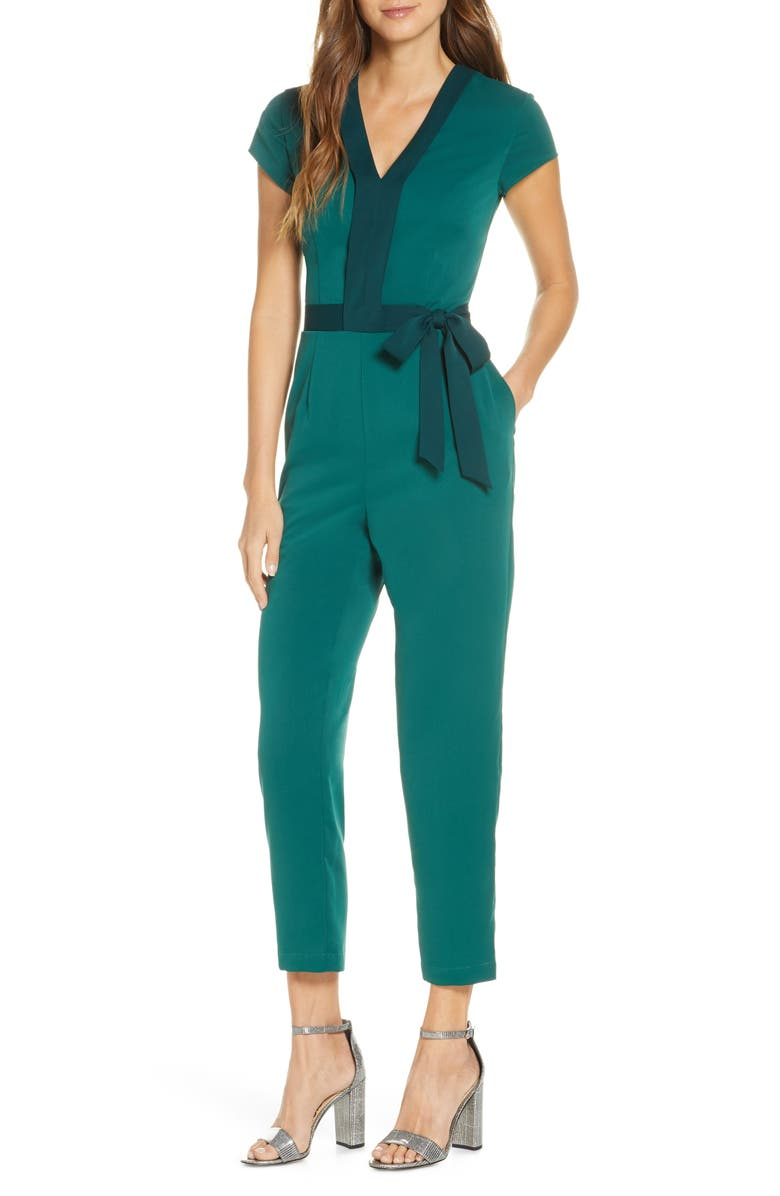 1901 Two-Tone Jumpsuit, Main, color, GREEN EVERGREEN COMBO