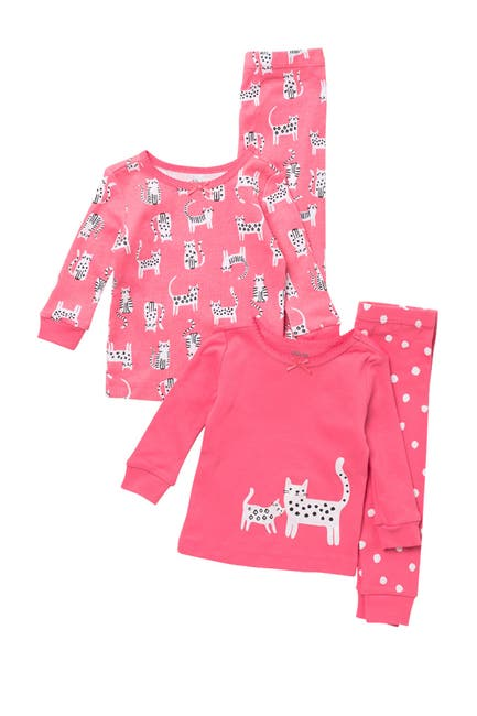 Image of Little Me Kitty 4 Piece Pajama Set