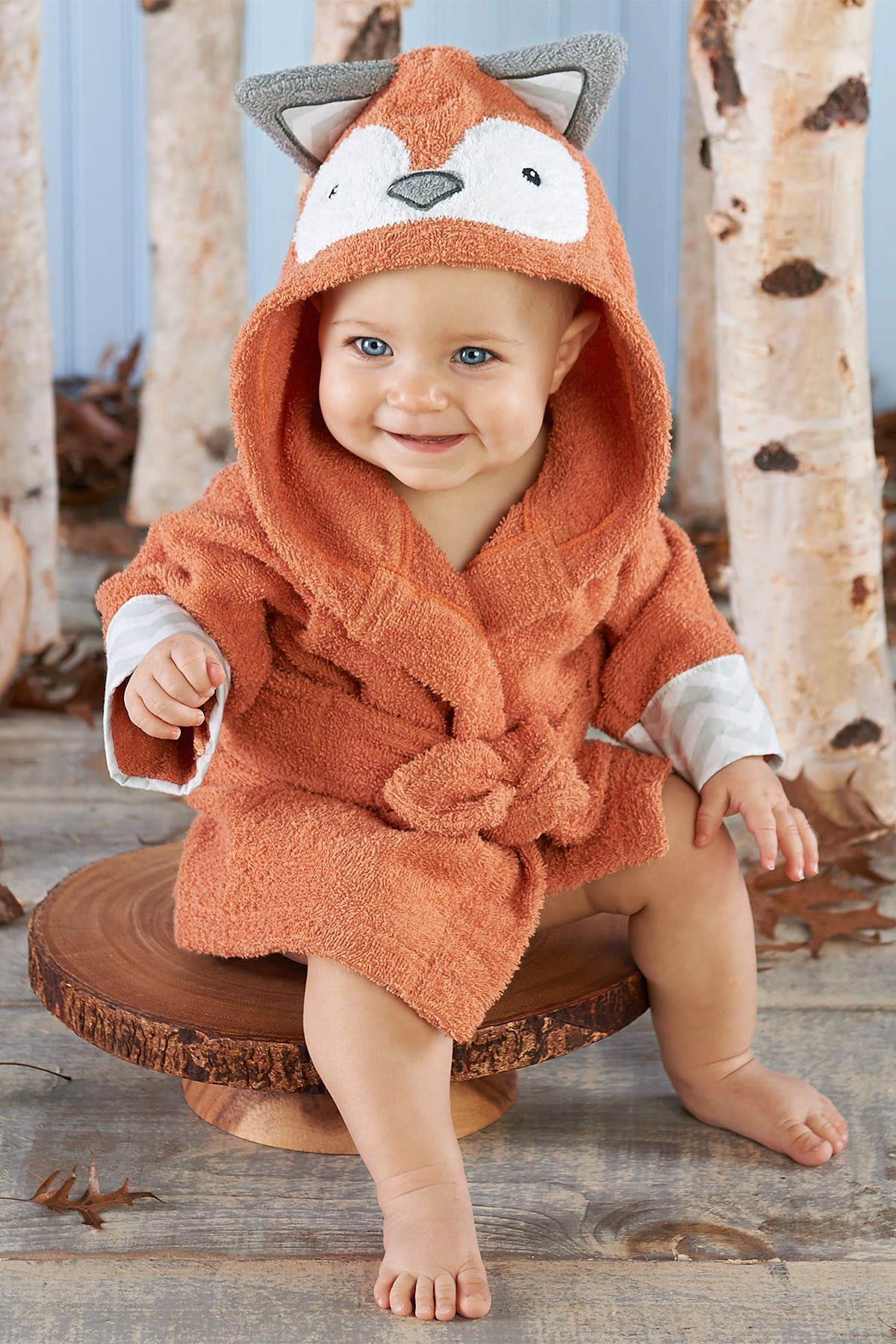 Image of Baby Aspen Rub-A-Dub Fox in the Tub Hooded Spa Robe