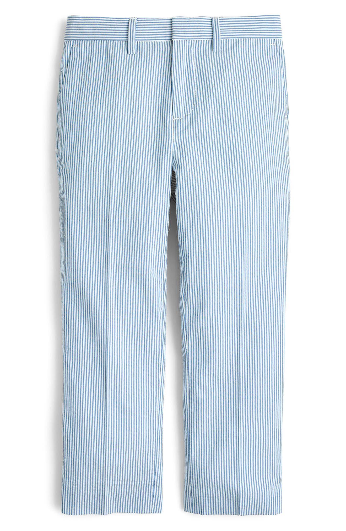 Boys Crewcuts By Jcrew Ludlow Seersucker Pants Size 12  Blue