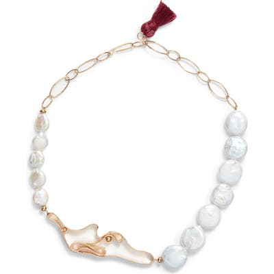 Nectar Nectar Winding Mother-Of-Pearl Collar Necklace