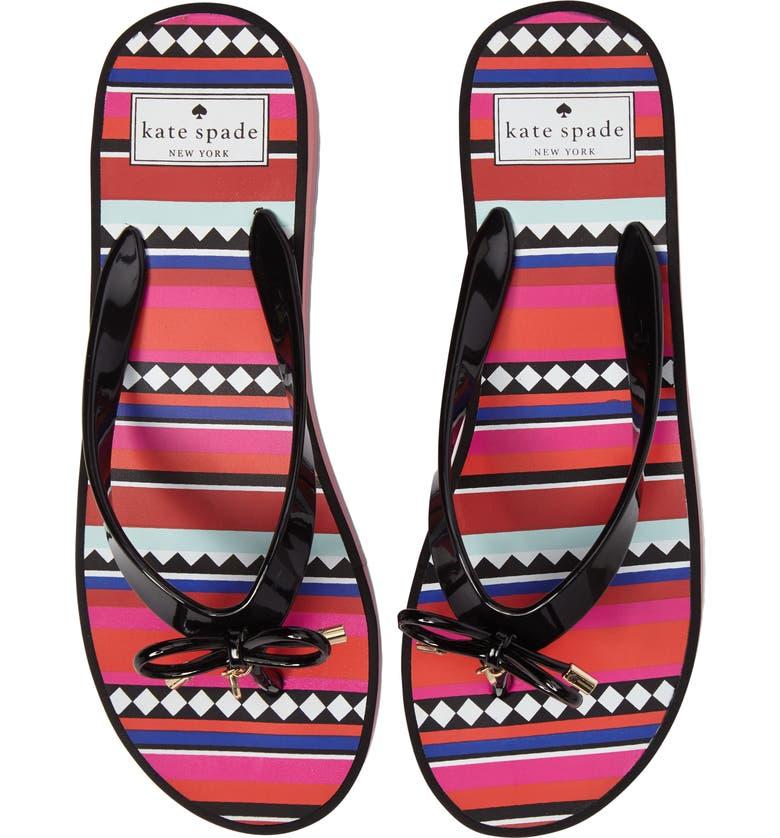 KATE SPADE NEW YORK rhett platform flip flop, Main, color, 008
