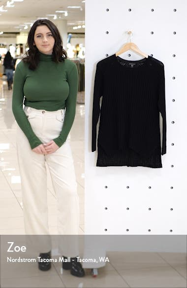 Round Neck Ribbed Pullover, sales video thumbnail