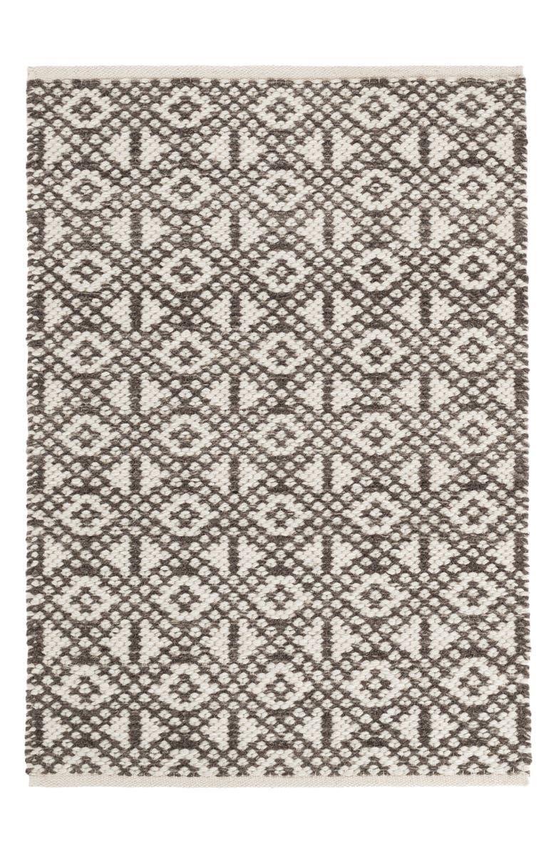 DASH & ALBERT Hopscotch Woven Wool Blend Rug, Main, color, GREY