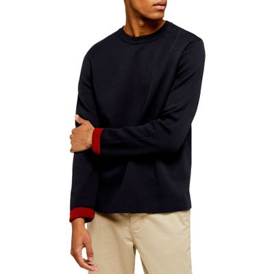Topman Double Knit Classic Fit Cotton Blend Sweater