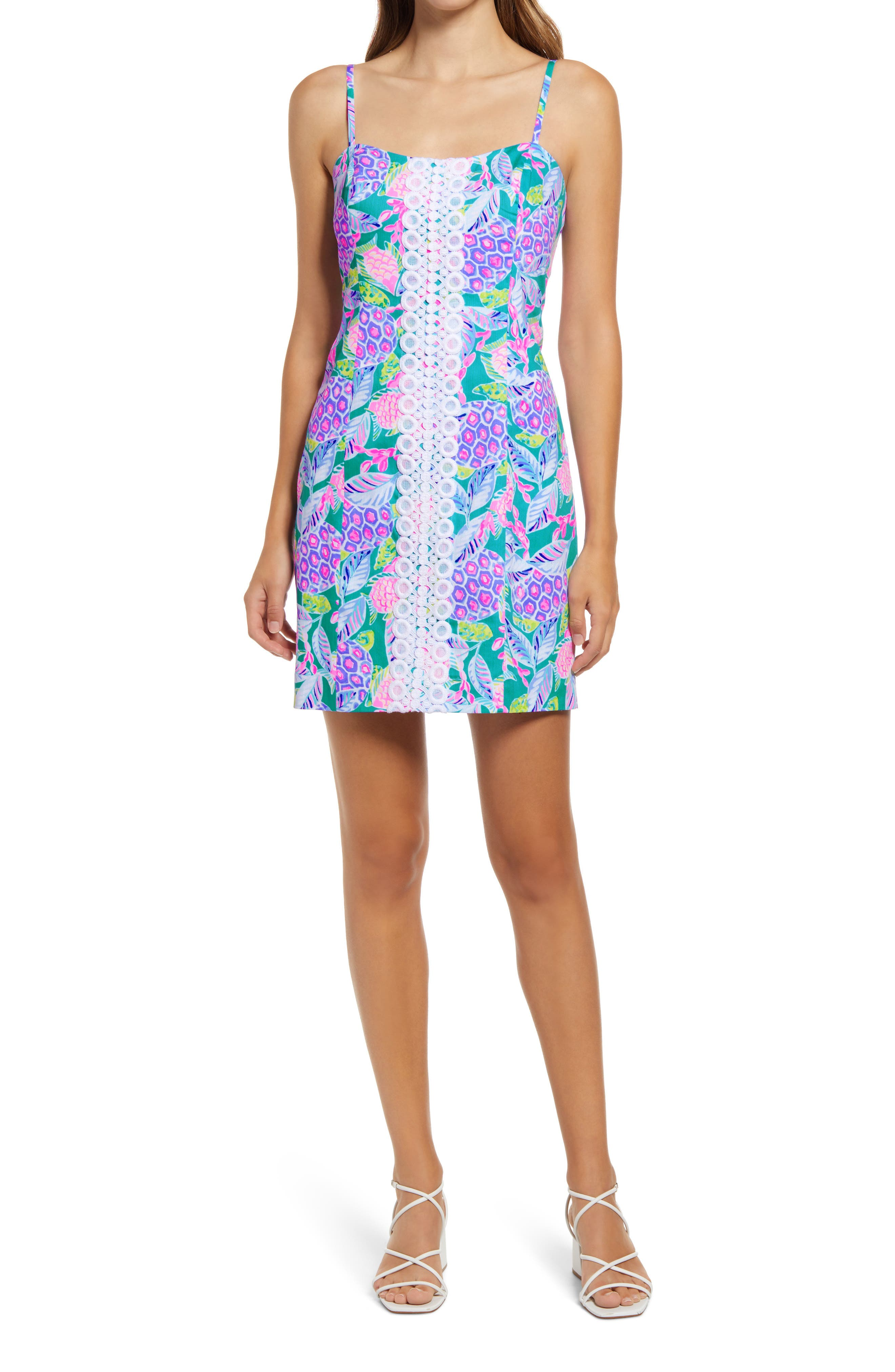 Women's Lilly Pulitzer Shelli Floral Stretch Cotton Shift Dress